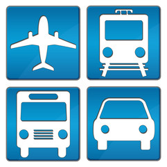 Travelling Icons Blue