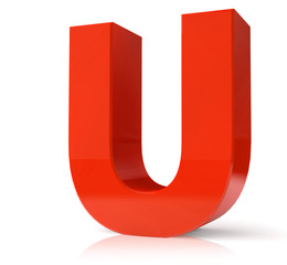 3d red letter collection - U