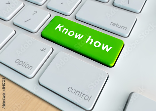 Education concept - know how button