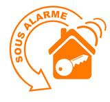 alarme flèche orange