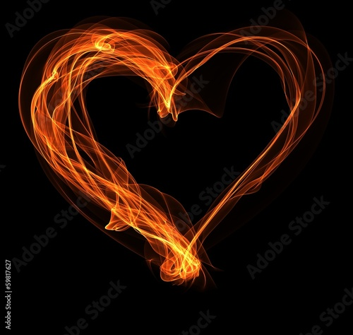 fire heart illustration