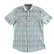 Gray and green shirt isolated