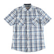 Gray and blue shirt isolated
