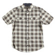 Brawn and beige shirt isolated