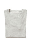 Folded gray t-shirt isolated