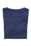 Folded navy t-shirt isolated