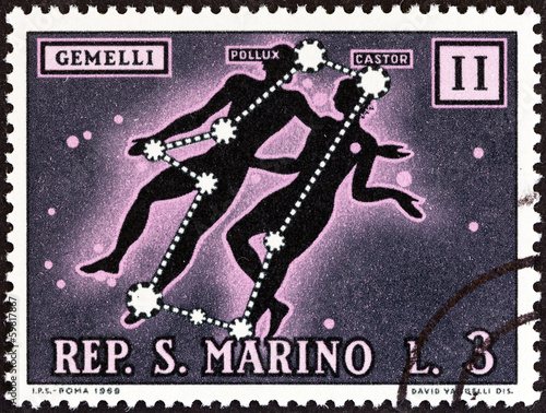 Gemini sign of the Zodiac (San Marino 1970)