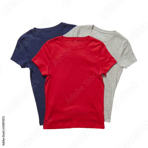 Three t-shirts isolated - 59817873