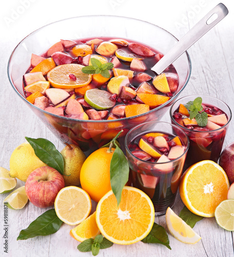 fruit punch, sangria
