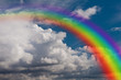 sky, clouds and rainbow. - 59819805