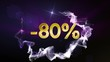 -80% Discount Concept, Gold Numbers in Particles