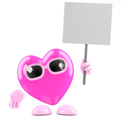 Pink heart protests