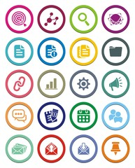 SEO circle icon sets