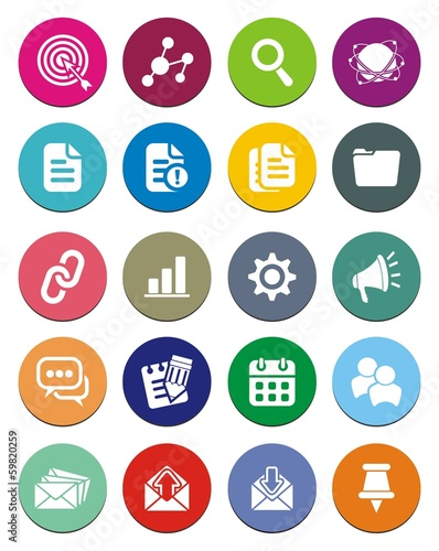 SEO round icon sets