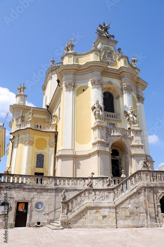 st. George church in sunny summer day in Lvov Ukraine