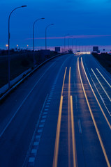 Fast road at night