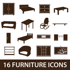 furniture icons eps10