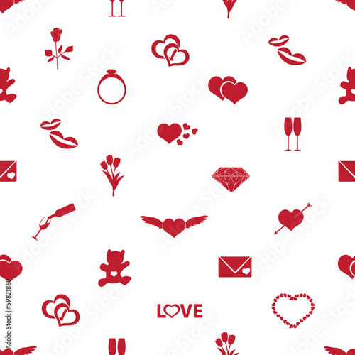 valentine's day and love pattern eps10