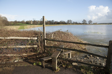 River Rother on East Sussex and Kent borders in flood situation