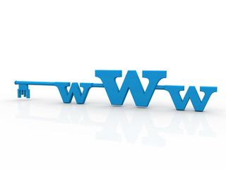 WWW with key