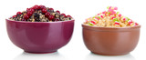 Bowls with kutia -  traditional Christmas sweet meal in
