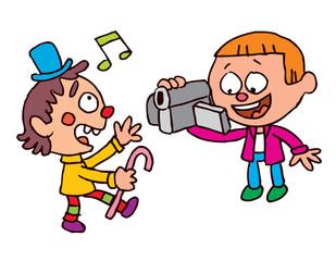 Kids video shooting