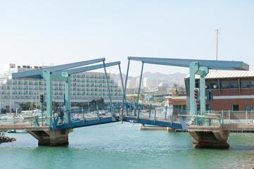 Разводной мост. Город Эйлат. Израиль