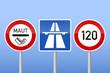 verkehrszeichen maut autobahn tempo 120 II