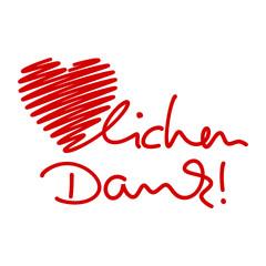symbol herz-lichen dank! I