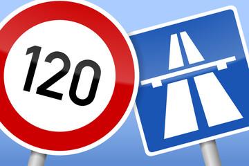 verkehrszeichen tempo 120 autobahn II