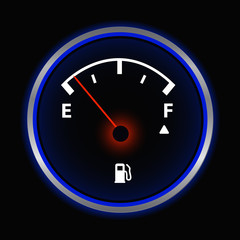 Gas Gauge Illustration