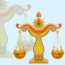 Ilustracji wektorowych Znak zodiaku Waga