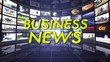 Business News Text in Room, Loop