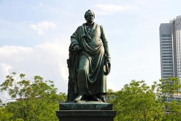 Goethe Statue in Frankfurt am Main