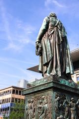 Goethe Statue in Frankfurt am Main.