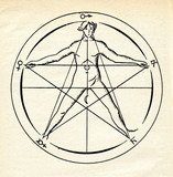 Upright pentagram - Star of the Microcosm