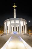 monument of heroes skopje macedonia poster