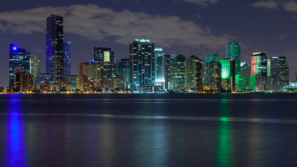 Miami Skyscrapers at Night