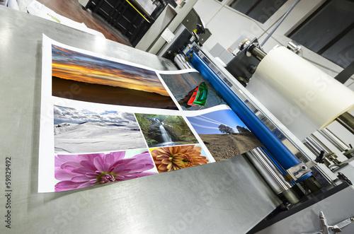 Leinwanddruck Bild offset machine roll laminator