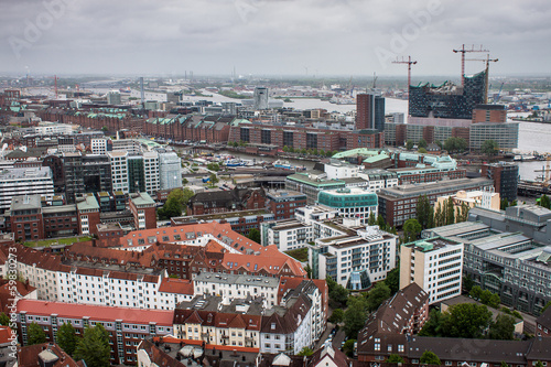 Aerial view of Hamburg, Germany