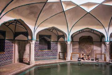 Traditional bathhouse (Hammam) with figurines, Kerman, Iran