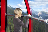 Enjoying the views from Peak 2 Peak Gondola in Whistler