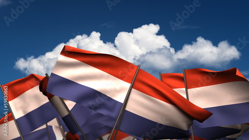 Waving Dutch Flags