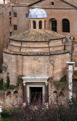 Rome, Temple of Romulus, Santi Cosma e Damiano