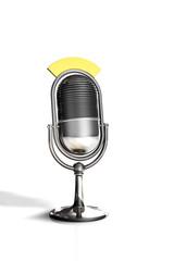 Silbernes Mikrofon