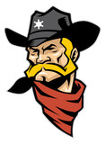 sheriff head mascot