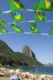 Brazilian Flag Bunting Red Beach Sugarloaf Rio Brazil