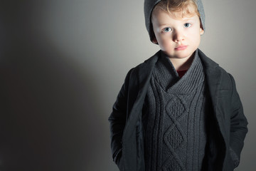 Little Boy.Handsome Kid. Fashion Children. Winter Style