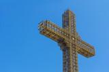 Millenium cross, Skopje, Macedonia poster