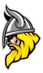 viking head mascot